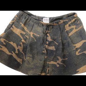 Haute Hippie ca army camo shorts